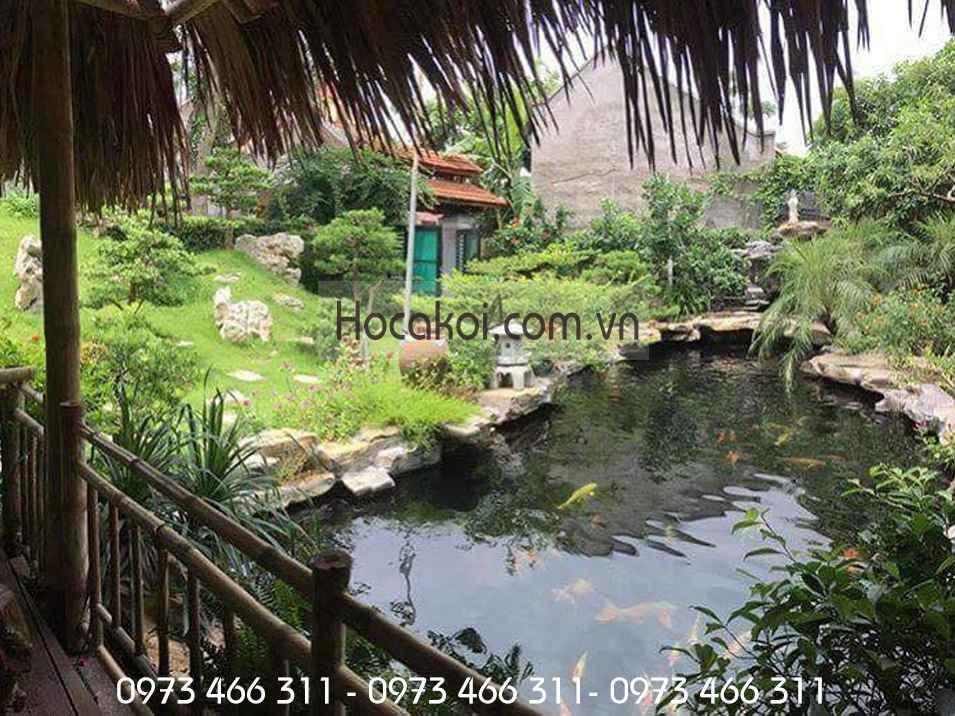 Hồ cá sân vườn biệt thự đẹp